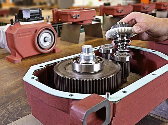 Montage eines Getriebes